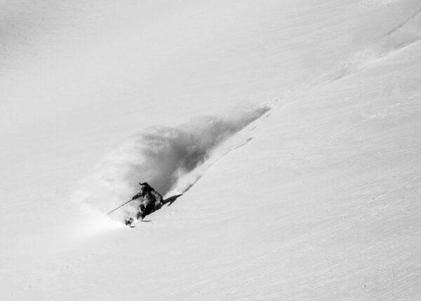 ski, skikjører, vinter, snø, fotokunst veggbilde / plakat av Kjell Erik Reinhardtsen