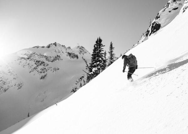 skikjører, fjell, snø, fotokunst veggbilde / plakat av Kjell Erik Reinhardtsen