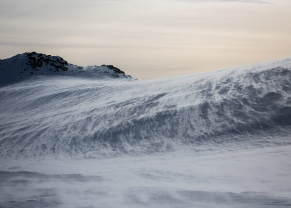 Snøføyke, fotokunst veggbilde / plakat av Kjell Erik Reinhardtsen