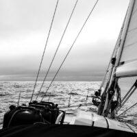Kun havets horisont i sikte., fotokunst veggbilde / plakat av Kjell Erik Reinhardtsen