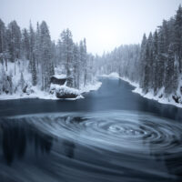 Vinterlandskap i Finland, fotokunst veggbilde / plakat av Kristoffer Vangen