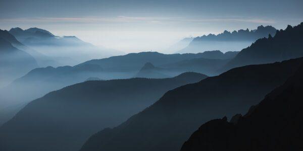 Utsikt over italienske alper, fotokunst veggbilde / plakat av Kristoffer Vangen
