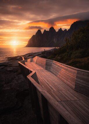 Gangvei i landskap, fotokunst veggbilde / plakat av Kristoffer Vangen