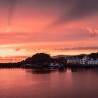 solnedgang over Hamn I Senja, fotokunst veggbilde / plakat av Kristoffer Vangen