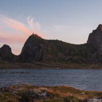 Fjell i horisonten, fotokunst veggbilde / plakat av Kristoffer Vangen