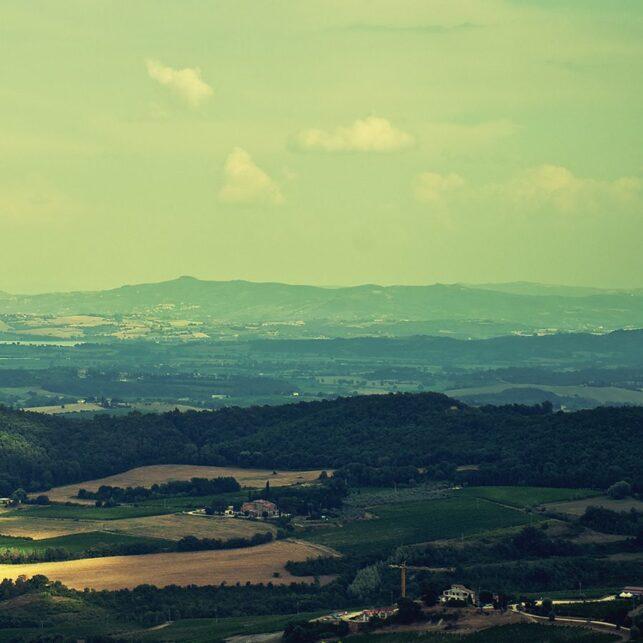Toscana åkere, fotokunst veggbilde / plakat av Peder Aaserud Eikeland