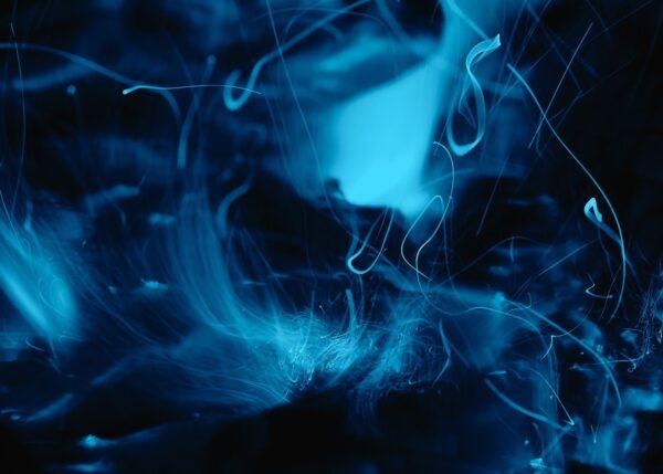 Kalde flammer, fotokunst veggbilde / plakat av Peder Aaserud Eikeland