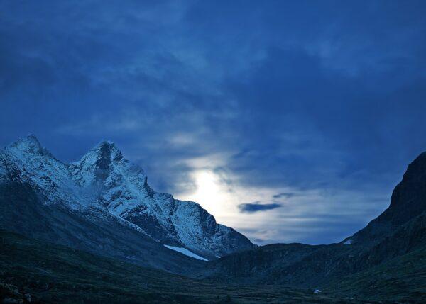Store Skagastølstind solnedgang, fotokunst veggbilde / plakat av Peder Aaserud Eikeland