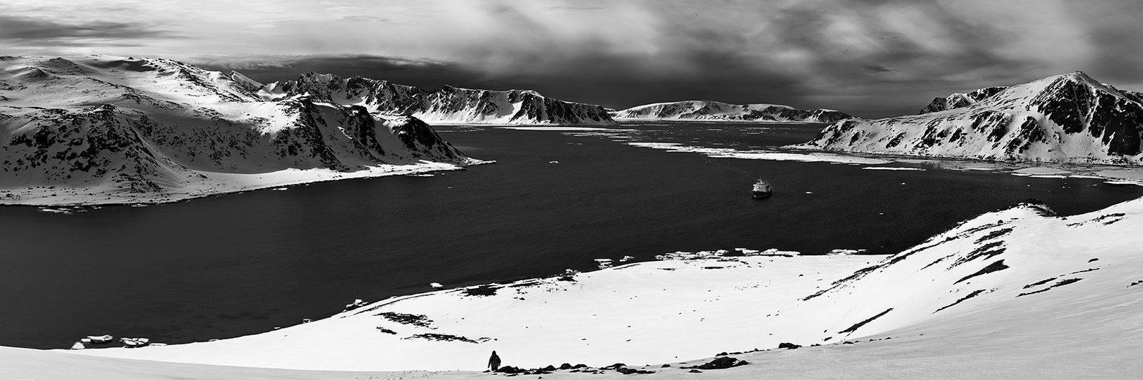 Svalbard fjord panorama av Peder Aaserud Eikeland