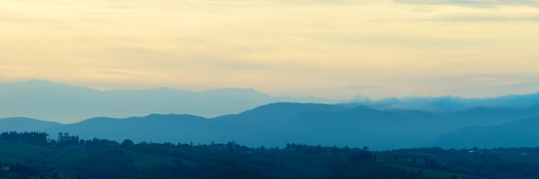 Toscana morgen panorama, fotokunst veggbilde / plakat av Peder Aaserud Eikeland