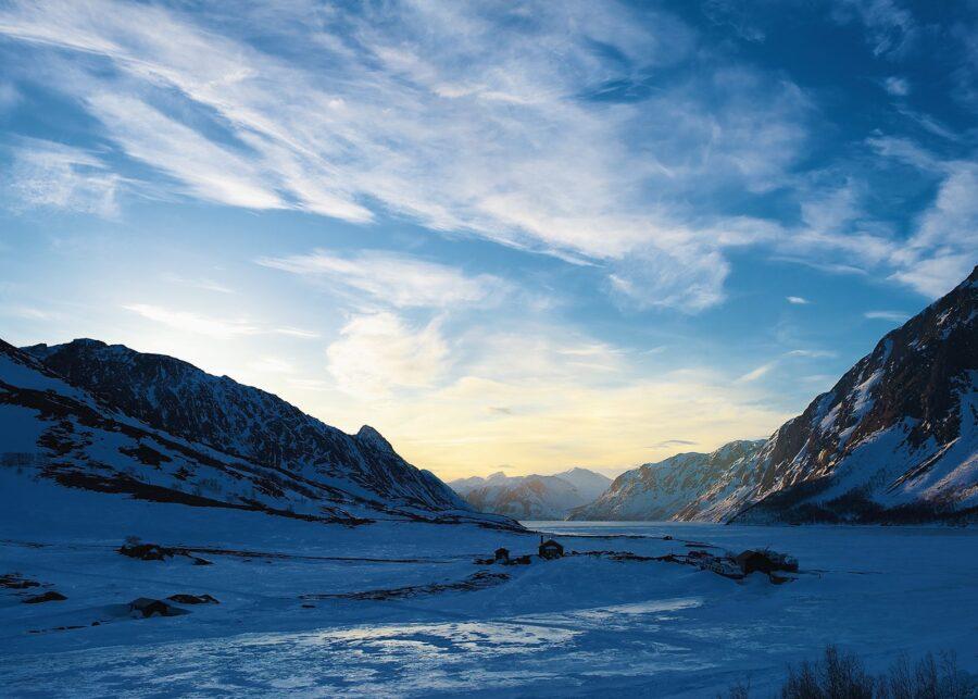 Gjendesheim vinterkveld av Peder Aaserud Eikeland
