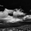 Sort-hvitt Jotunheimen panorama landskap, fotokunst veggbilde / plakat av Peder Aaserud Eikeland