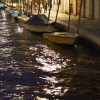 Solnedgang over kanalene i Venezia, fotokunst veggbilde / plakat av Peder Aaserud Eikeland