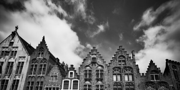Klassiske hus i Brugge, fotokunst veggbilde / plakat av Peder Aaserud Eikeland