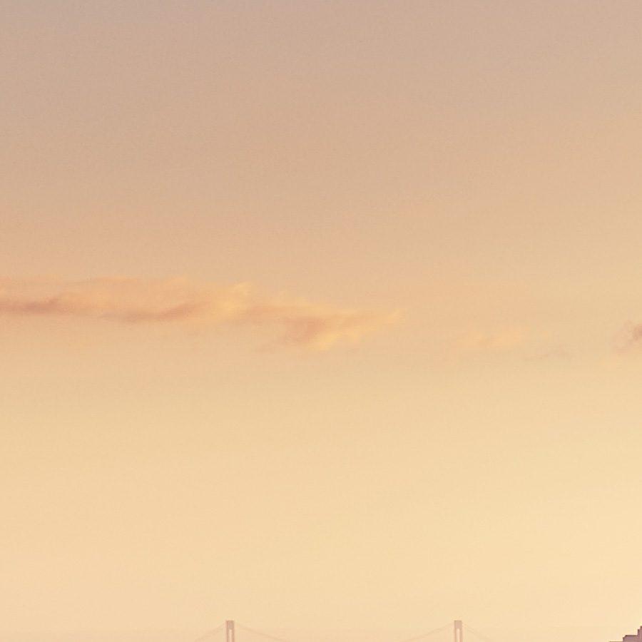 Solnedgang over Manhattan i oktober av Peder Aaserud Eikeland
