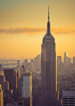 Empire State Building retro toner, fotokunst veggbilde / plakat av Peder Aaserud Eikeland