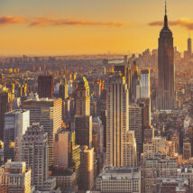 Empire State Building solnedgang sort-hvitt, fotokunst veggbilde / plakat av Peder Aaserud Eikeland