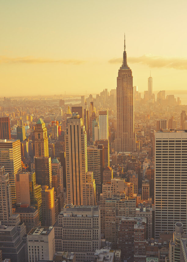 Empire State Building solnedgang, fotokunst veggbilde / plakat av Peder Aaserud Eikeland