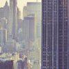 Hard blue skyline Manhattan av Peder Aaserud Eikeland