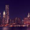 Manhattan night time, fotokunst veggbilde / plakat av Peder Aaserud Eikeland