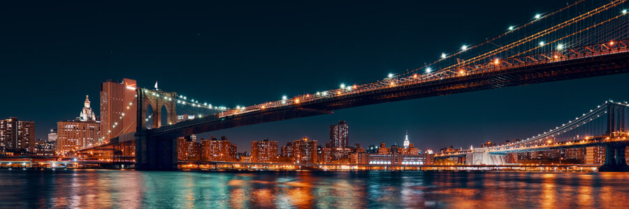 Brooklyn Bridge og Manhattan av Peder Aaserud Eikeland