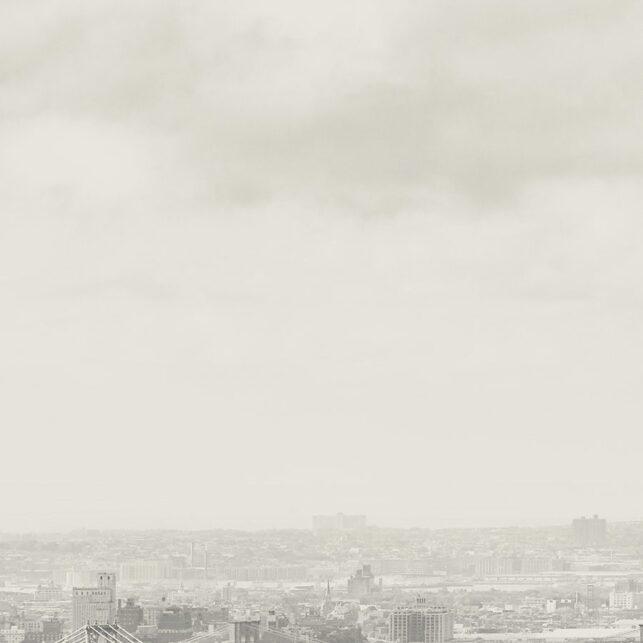 Skyline av New York i sort-hvitt, fotokunst veggbilde / plakat av Peder Aaserud Eikeland