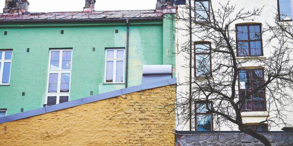 Bakgårdsfasader på Grunerløkka, fotokunst veggbilde / plakat av Peder Aaserud Eikeland