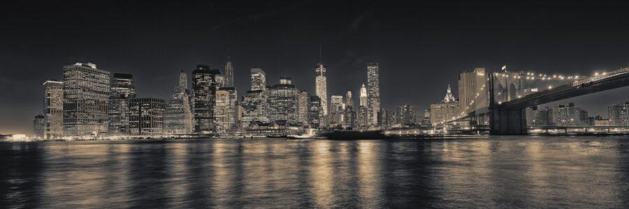 Manhattan skyline fra Brooklyn på kvelden SH av Peder Aaserud Eikeland