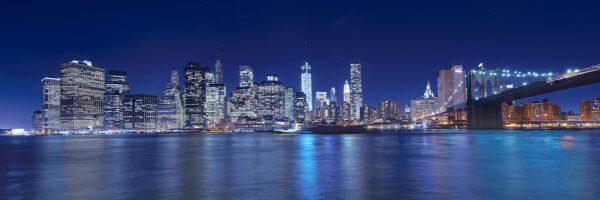 Manhattan skyline fra Brooklyn på kvelden II, fotokunst veggbilde / plakat av Peder Aaserud Eikeland