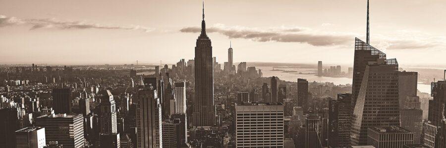 New York skyline retro style av Peder Aaserud Eikeland