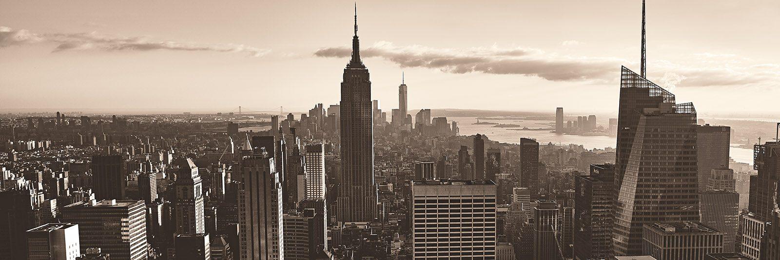 New York skyline motlys sort-hvitt av Peder Aaserud Eikeland