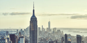 New York skyline morgenlys, fotokunst veggbilde / plakat av Peder Aaserud Eikeland