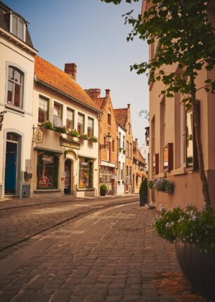 Brosteinsgate i Bruges, fotokunst veggbilde / plakat av Peder Aaserud Eikeland