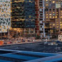 Barcode skyline fra operaen, fotokunst veggbilde / plakat av Peder Aaserud Eikeland