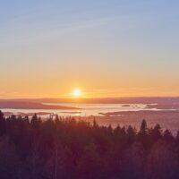 Oslo panorama fra Grefsenkollen, fotokunst veggbilde / plakat av Peder Aaserud Eikeland
