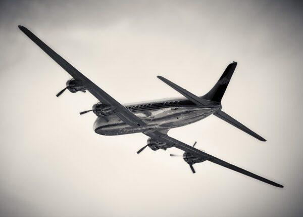Douglas DC-6b blank skjønnhet, fotokunst veggbilde / plakat av Peder Aaserud Eikeland
