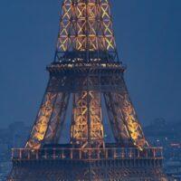 Eiffeltårnet i Parisnatten, fotokunst veggbilde / plakat av Peder Aaserud Eikeland