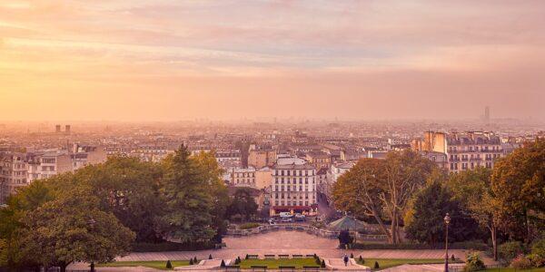 Morgenstemning i Montmartre, fotokunst veggbilde / plakat av Peder Aaserud Eikeland