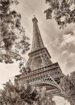 Eiffeltårnets lys i Paris-natten, fotokunst veggbilde / plakat av Peder Aaserud Eikeland