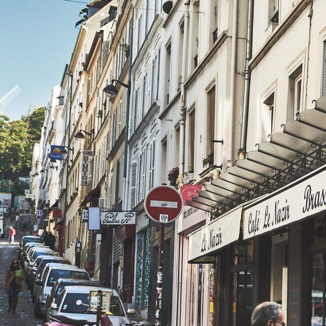 Kafé-livet i Paris, fotokunst veggbilde / plakat av Peder Aaserud Eikeland