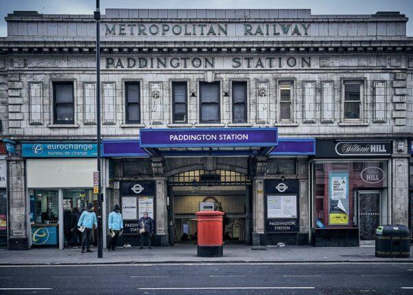 Paddington underground station, fotokunst veggbilde / plakat av Peder Aaserud Eikeland