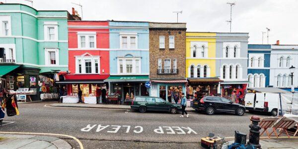 Portebello Rd Notting Hill, fotokunst veggbilde / plakat av Peder Aaserud Eikeland