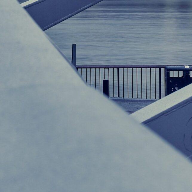 Millennium Bridge linjer, fotokunst veggbilde / plakat av Peder Aaserud Eikeland