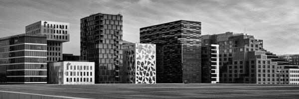 Barcode byggeklosser, fotokunst veggbilde / plakat av Peder Aaserud Eikeland