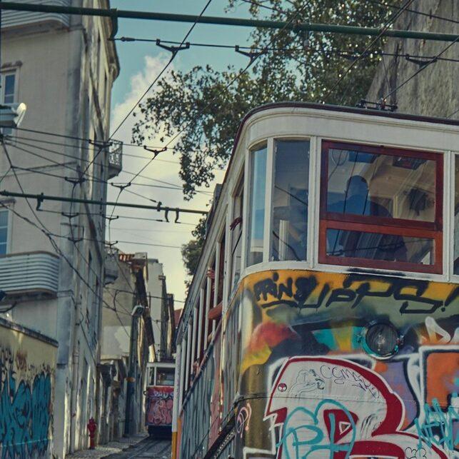 Glória Funicular II, fotokunst veggbilde / plakat av Peder Aaserud Eikeland
