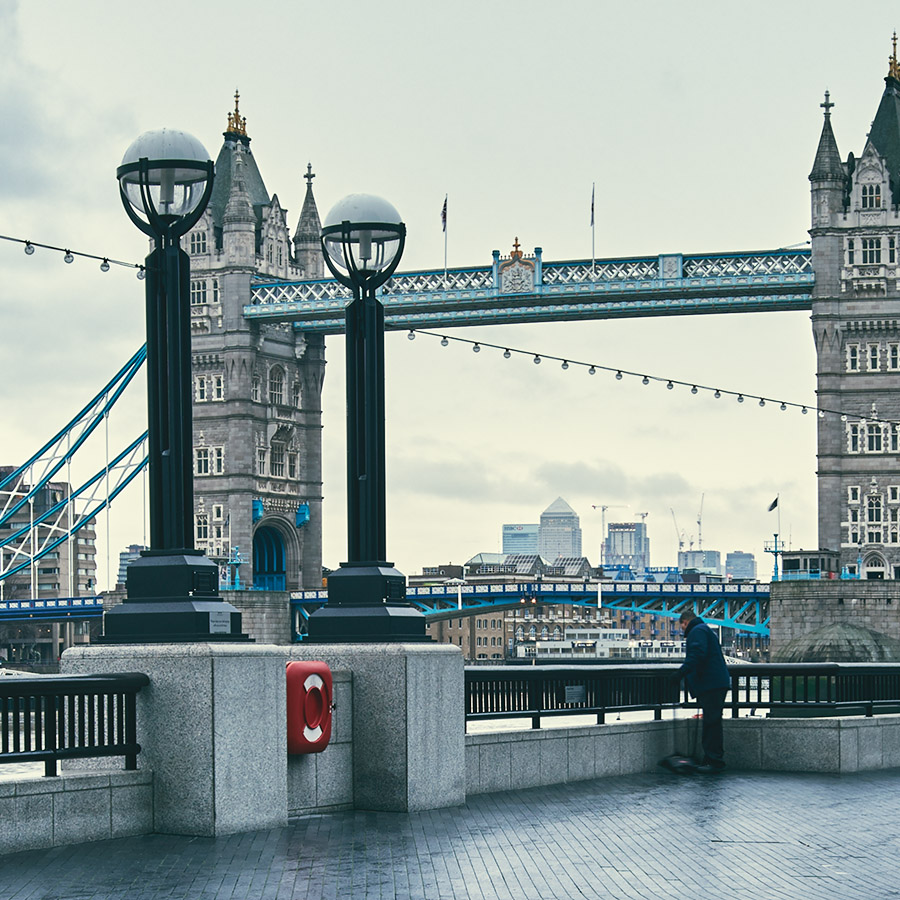 London City Hall og Tower Bridge, fotokunst veggbilde / plakat av Peder Aaserud Eikeland