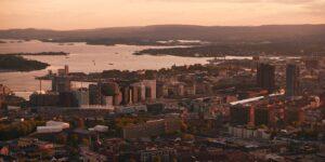 Blåtimen over Oslo, fotokunst veggbilde / plakat av Gunnar Kopperud