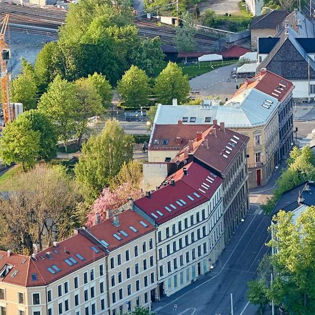 Oslo gate og Geitabru, fotokunst veggbilde / plakat av Peder Aaserud Eikeland