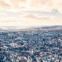 Oslo fra over Grefsenkollen, fotokunst veggbilde / plakat av Peder Aaserud Eikeland
