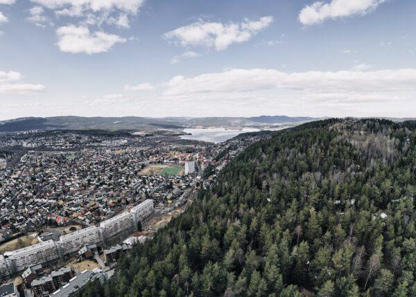 Grefsenkollen, fotokunst veggbilde / plakat av Peder Aaserud Eikeland